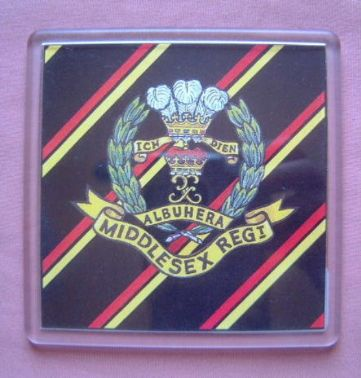 MIDDLESEX REGIMENT LARGE ACRYLIC COASTER